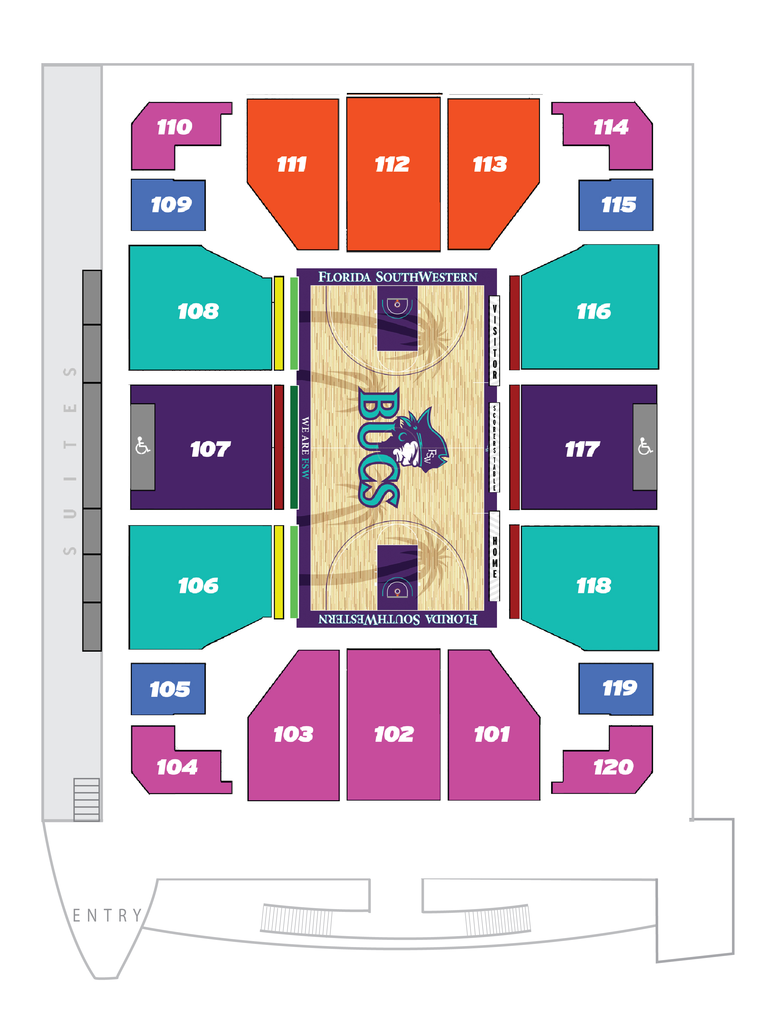 Arena Seating Chart